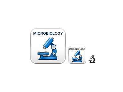 Microbiology boundless microbiology icon microscope blue