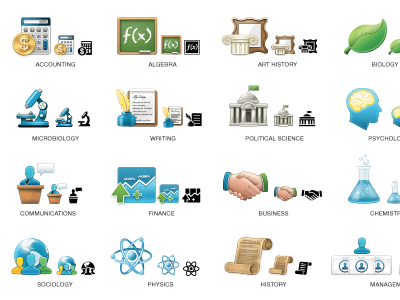 Boundless Subject Icons boundless subjects courses free textbooks icons