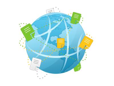 Internet Icon internet icon web connection globe blue green yellow