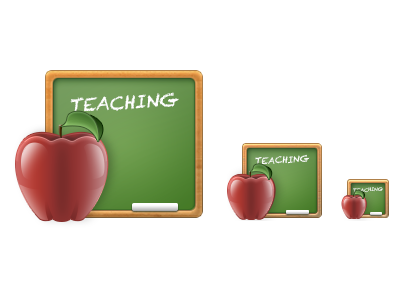 Teaching icon boundless teaching icon professors apple chalkboard green brown red