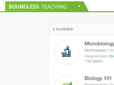 Teaching boundless education teaching platform app class green blue biology microbiology