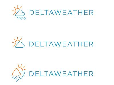 DELTAWEATHER logo watch app weather delta work in progress