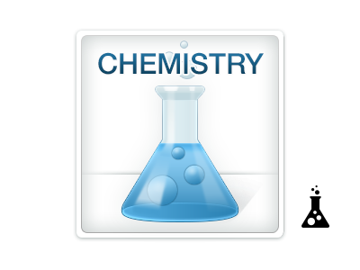 Chemistry boundless chemistry icon erlenmeyer flask beaker blue