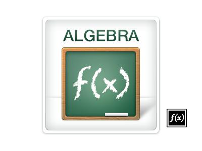 Algebra icon boundless algebra icon function chalkboard chalk wood green