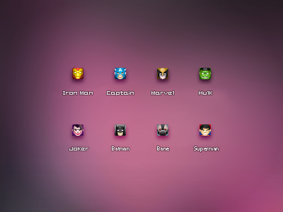 16px super heros icons1