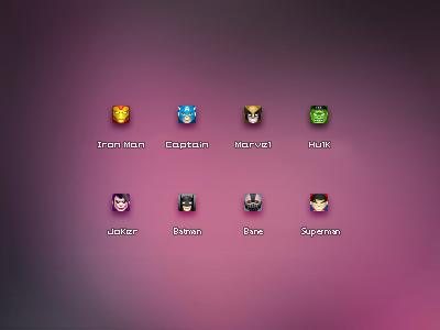 16px Super Heros Icons1 blueant heros icon 16px joker ironman