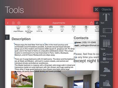 PDF Creator ios application app ipad pdf objects forms tools poem creator