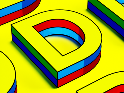 Letter D 3d ilustration minimal illustration cinema4d 3d art 3d 36daysoftype letter typography