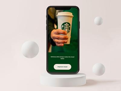 Сoncept design Starbucks App user interface food and drink food app design mobile app app ux ui