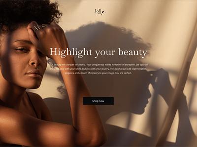 Jewelry Shop/Concept jewelry web design figma gold store online shop ui  ux design