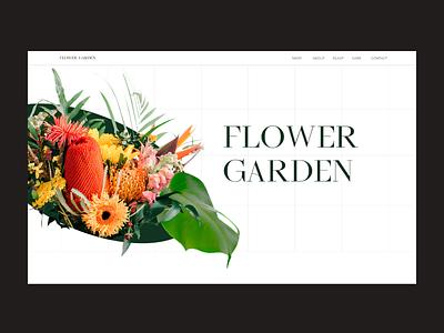 Flower store figma flowers web design ui ux design