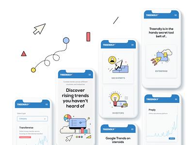 Website for tracking search trends. SaaS platform site illustration saas website figma web design ui ux design