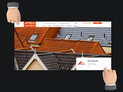 Web design for manufacture of roofing materials site illustration figma web design ui ux design