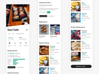 TripAdivsor • Restaurant view redesign