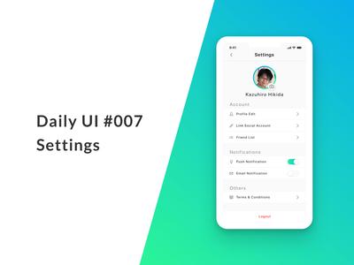 Settings (Daily UI #007)
