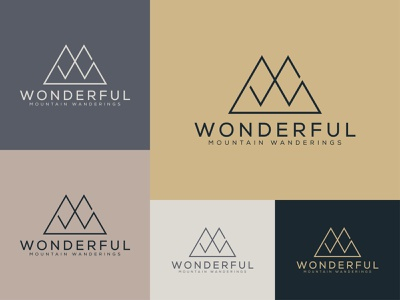 WONDERFUL MOUNTAIN WANDERINGS logo business logo logo design minimal logos cool logo professional logo design branding logo business logo creative logo professional logo minimalist logo design minimalist logo minimal logo design minimal logo adventure logo mountain logo design mountain logo