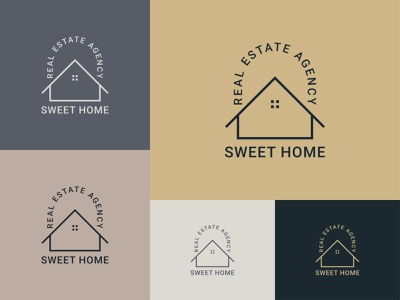 SWEET HOME professional logo branding logo design logo brand business logo logo design graphic design minimal house logo design minimal logo design minimalist house logo design minimalist logo design house logo icon real estate logo design real estate logo modern house logo home logo design home logo