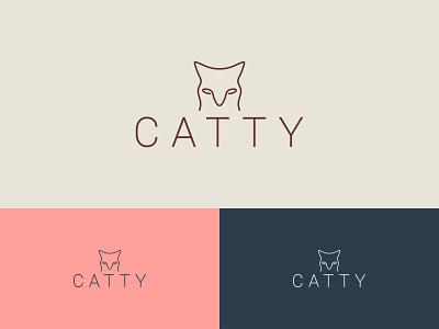 CATTY logo logo branding branding logo design logo mark logo design branding animal logos brand logo business logo professional logo creative logo minimalist logo minimal logo logo design animal logo cat logo catty logo
