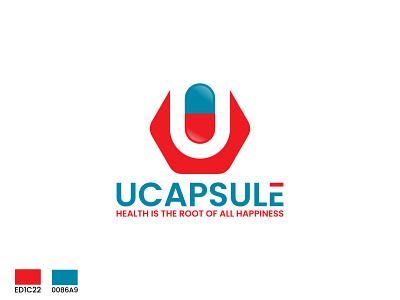 ucapsule health logo design logo brand minimalist logo minimal logo branding logo design logo design business logo capsule logo medicine logo modern logo health logo maker health logo