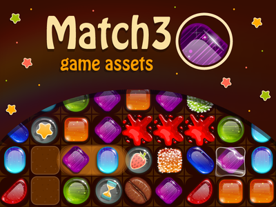 Juicy Match 3 For Dribbble 800x600 ui designer sweets puzzle game mobile match3 match 3 make a game game set game design game assets candy game app