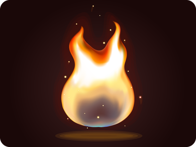 Fire icon game fire flash spark burning bright assets vector play force of nature element icon