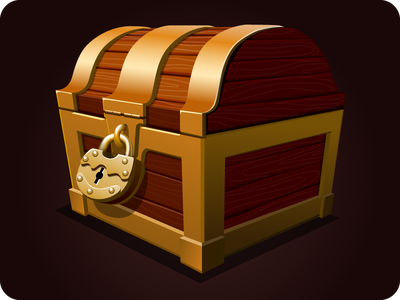 Chest icon game assets game icon wooden box pirates wealth treasure gold chest