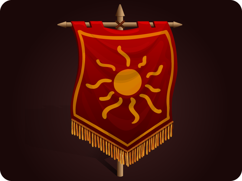 Flag icon game 2d art illustration fairy tale story magic fantasy computer game game assets victory banner icon flag