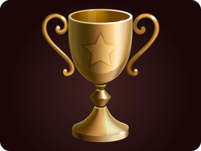 Goblet icon game golden win gold design object icon illustration quest winner artifact concept interface
