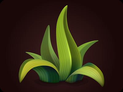 Grass icon game ecology botanical illustration season vector element game botany icon grass