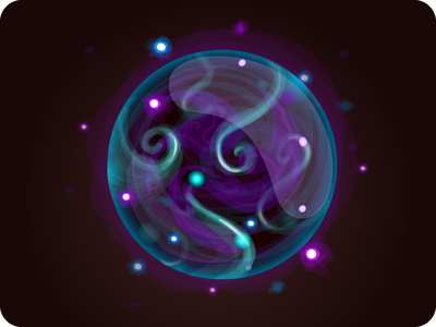 Mana icon game fireball electric ball light ball energy sphere icon vector magic sprite illustration quest witch mana