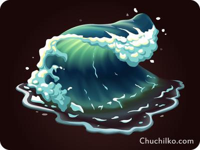 water icon game quest app ocean wave sea gamedev illustration vector element game icon water