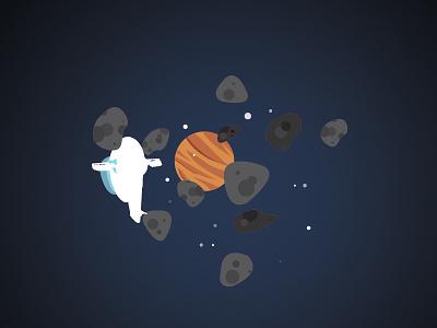 Iconic spaceships minimalist slave1 wars star space illustration
