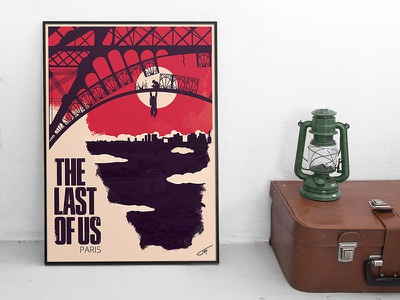 Last of us Paris poster artwork naughtydog game paris lastofus serigraphie illustration