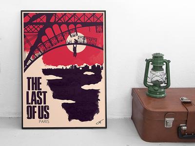 Last of us Paris poster artwork naughtydog game paris lastofus serigraphie illustration