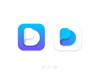 Logo DP ui icon digital prime logo illustration branding