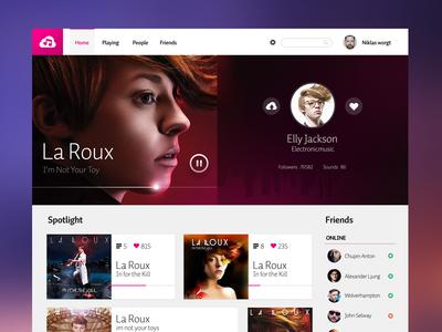 Online Radio radio music app ui kit web