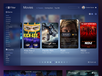 Movie Ui movie ui ios7 ipad music