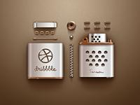 Dribbble Lighter (Dismantling)  icon ui sanadas