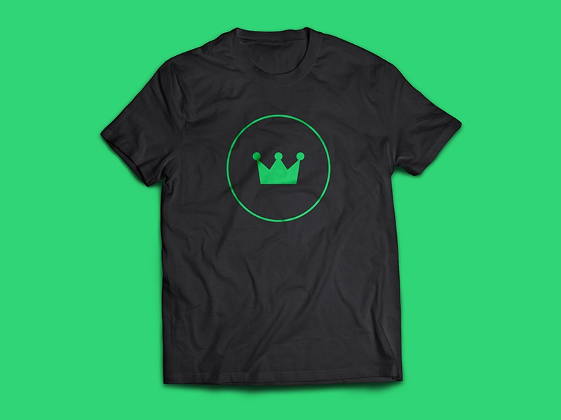 Marketplace Tee tee shirt simple clean minimal icon iconic green ui vip