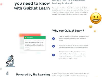 Learn Landing Page sketch emoji digital app ui iphone ios landing page landing website web