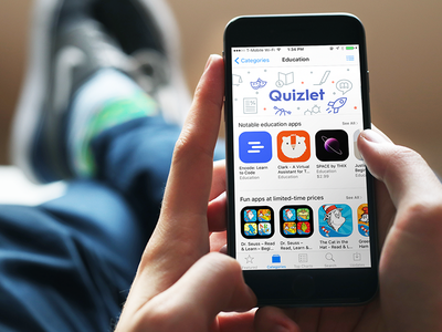 We are featured in the App Store! quizlet learn mode study education ios apple featured app store