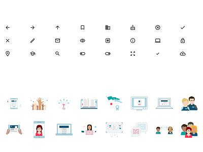 """Recess"" — Design System branding icon typography ux illustration ui web design system"
