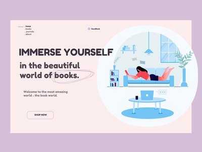Book Store web ui design illustration