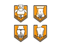 fitness level badges - female