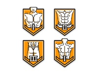 fitness level badges - male