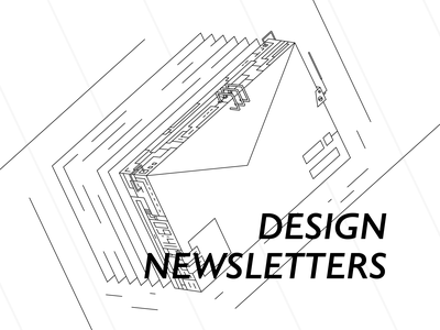 Design Newsletters letters monochrome lines illustration