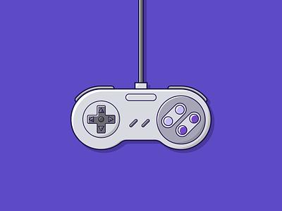 Super Nintendo Joystick (snes) illustration design icon joystick snes illustrator vector graphic design nintendo game