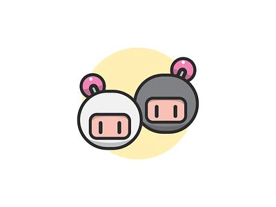 Bomberman Icon digital art video games nintendo jogos icone illustrator graphic design vector icon design illustration bomberman games