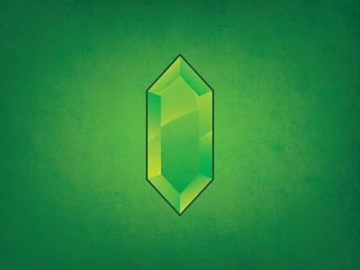 Rupee verde green texturas texture link rupee cristal vintage snes nintendo digital art vector illustrator illustration icon graphic design games zelda