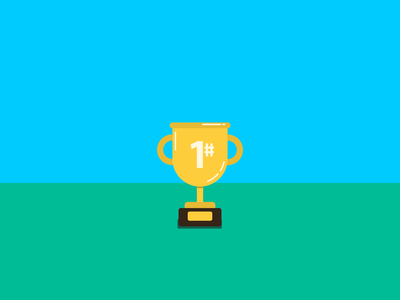 Number One victory number one trophy motion motion graphics bouncing adobe after effects animation icon vector illustrator illustration